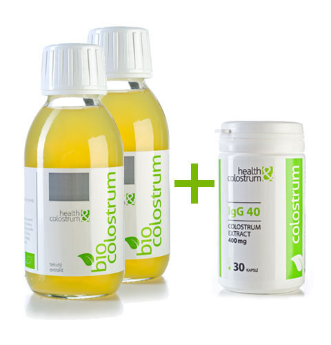 Bio colostrum akčná sada 2 x 125 ml + colostrum kapsule IgG 40 - 30 ks